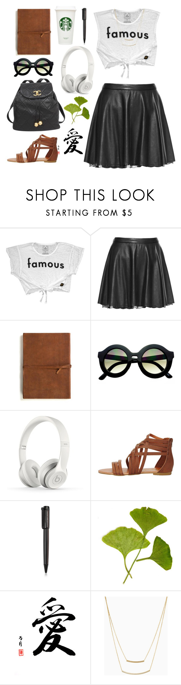 """""""Hollywood here I come"""" by jewelspiration ❤ liked on Polyvore featuring Trunk LTD, Alice + Olivia, Emili, Retrò, Chanel, Beats by Dr. Dre, Harley-Davidson, DailyLook, Leather and FAmous"""