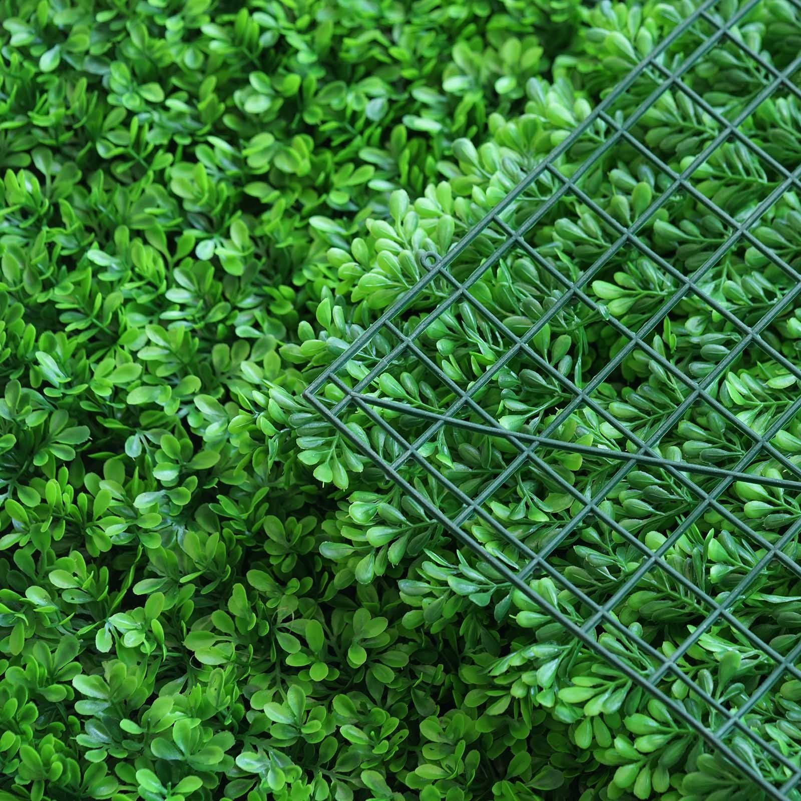 11 Sq ft. 4 Panels Artificial Lime Green Boxwood Hedge