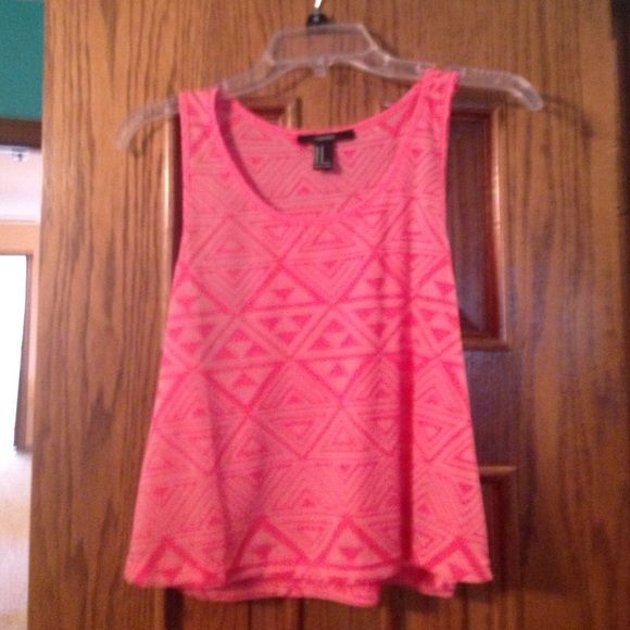 Forever 21 Pink Tribal Tank Super cute tribal tank from Forever 21. Only worn once, just selling because I'm too tall for it. Great condition! Forever 21 Tops Tank Tops