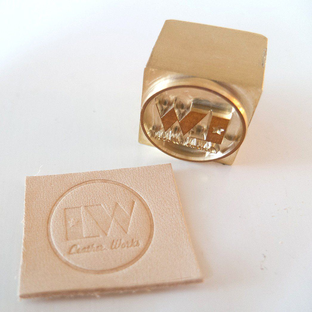 Diy Leather Embossing Stamp: Custom Leather Stamp For Arbor Press Stamping / Embossing