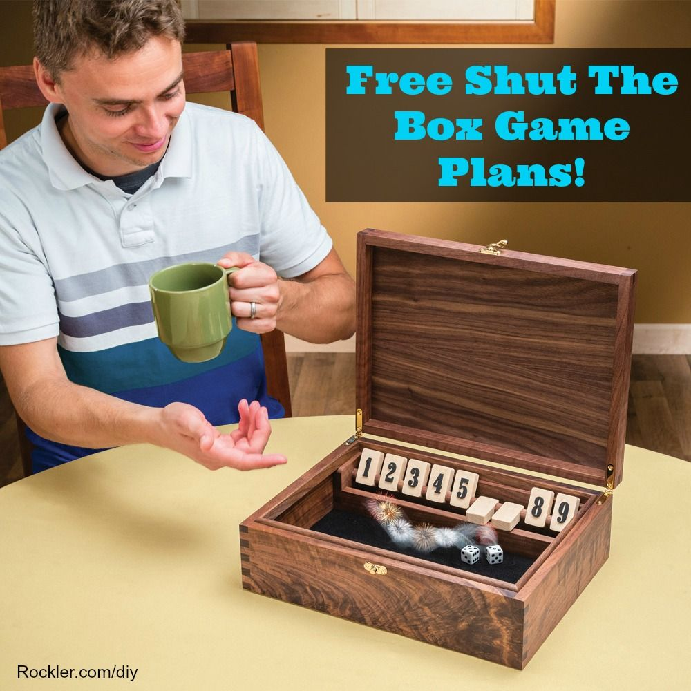 free shut the box woodworking plans! | woodworking | woodworking
