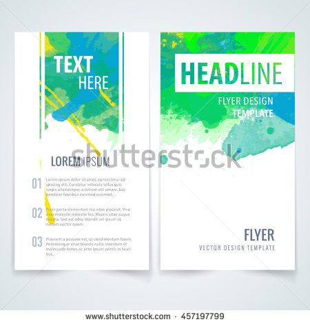 Design elements template for brochure, leaflet, poster or flyer on - clothing drive flyer template