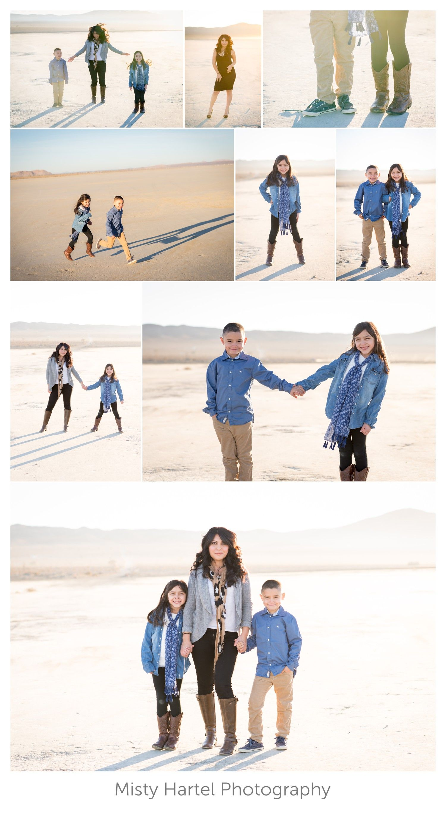 Family photography session at a dry lake bed. Photo by Misty Hartel Photography