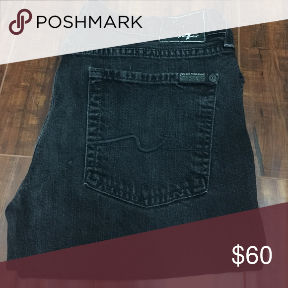 7 FOR ALL MANKIND 7 for all mankind black denims jeans 7 For All Mankind Jeans Boot Cut