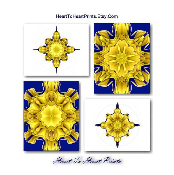 Gold Navy Wall Art Mustard Yellow Navy Art Prints Yellow Navy White ...