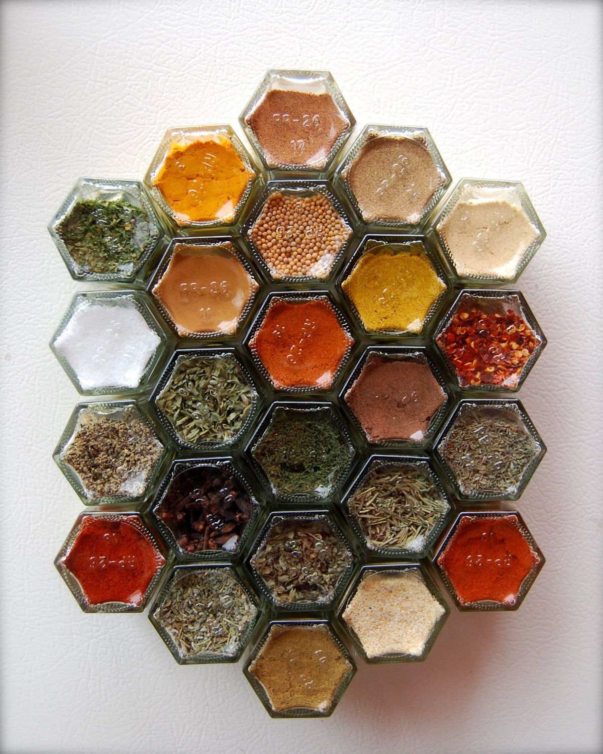 DIY HEX 24 GOLD Spice Rack (Includes