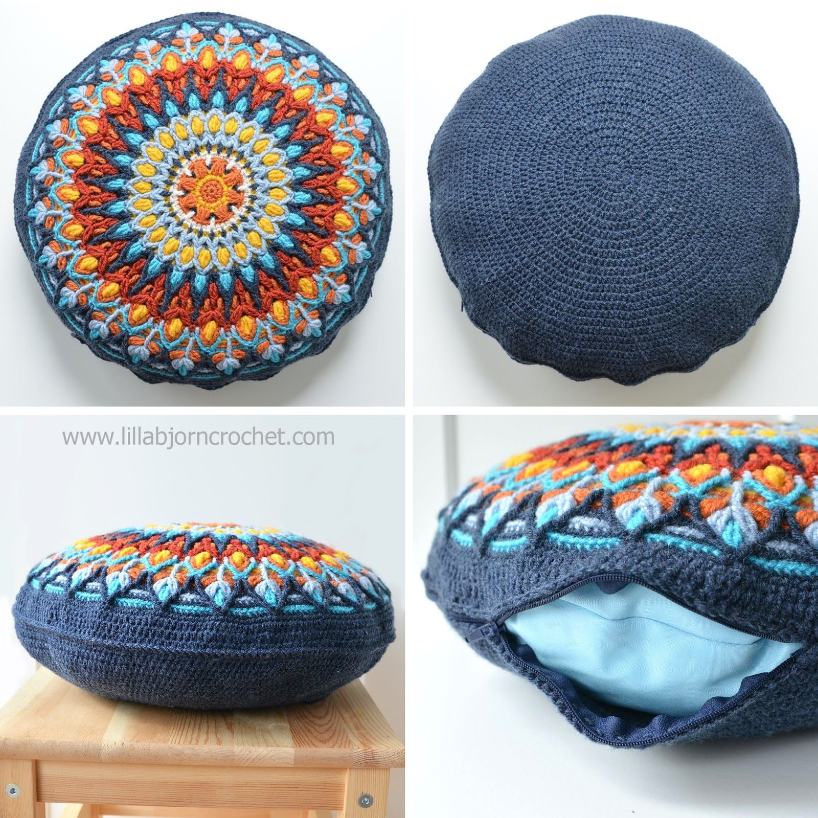 My new mandala design is here and its in overlay crochet again spanish mandala cushion pattern by lilla bjorn crochet diy pillows round bankloansurffo Image collections