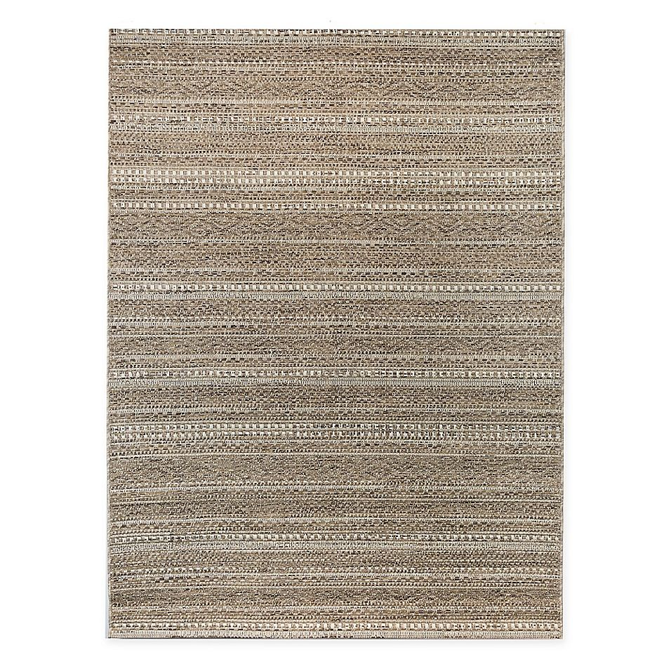 Bee Willow Home Westward 5 X 7 Indoor Outdoor Area Rug In Tan