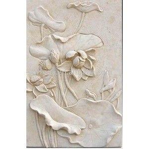 Sandstone Relief Sculpture Wall Decoration Products Buy San Bunga Teratai Seni Batu Ornamen