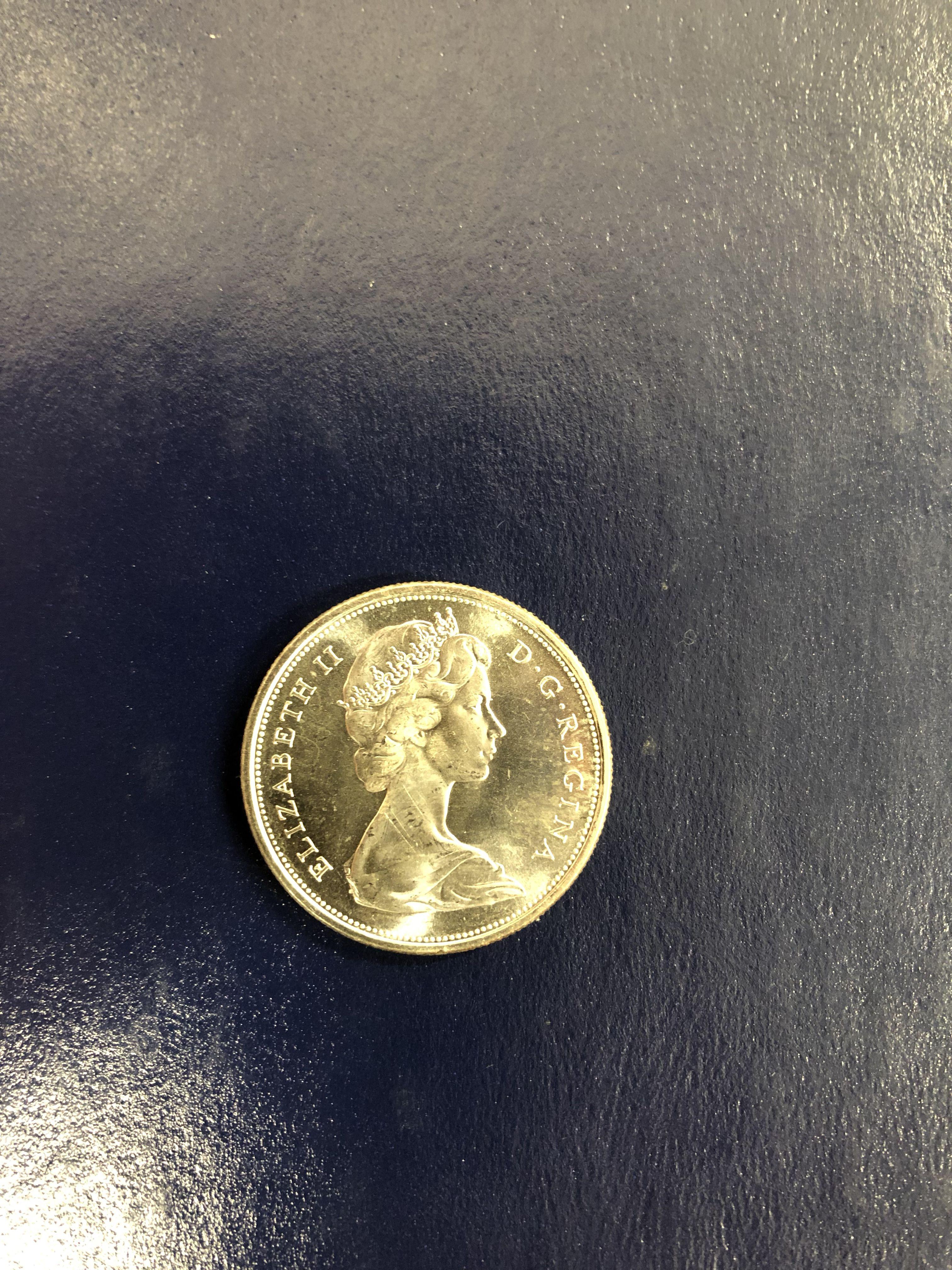 Rare canadian centennial half rare coinage vintage
