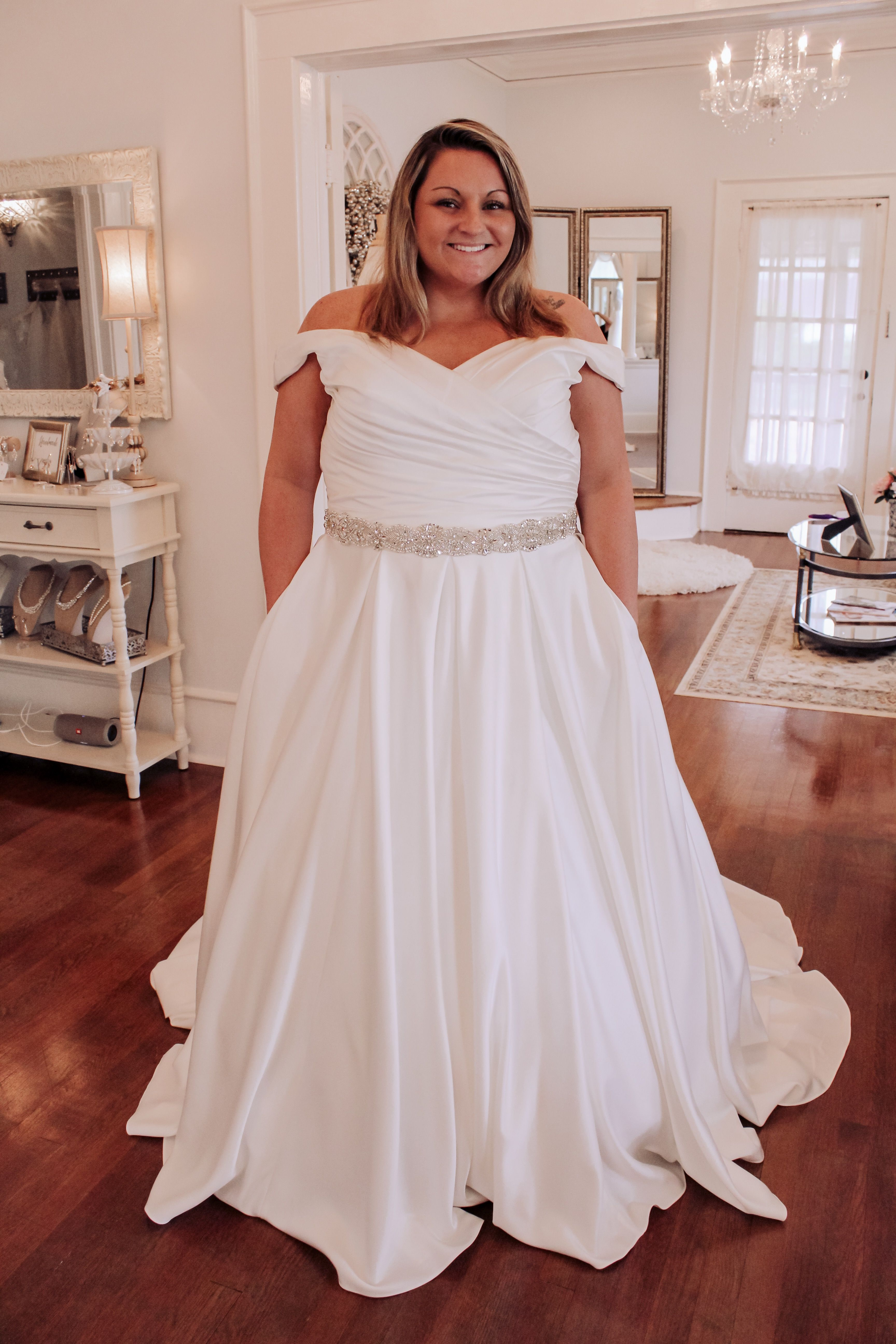 Madelyn Simple Satin A Line Wedding Gown A Line Wedding Dress Wedding Dresses Atlanta Satin Wedding Gown