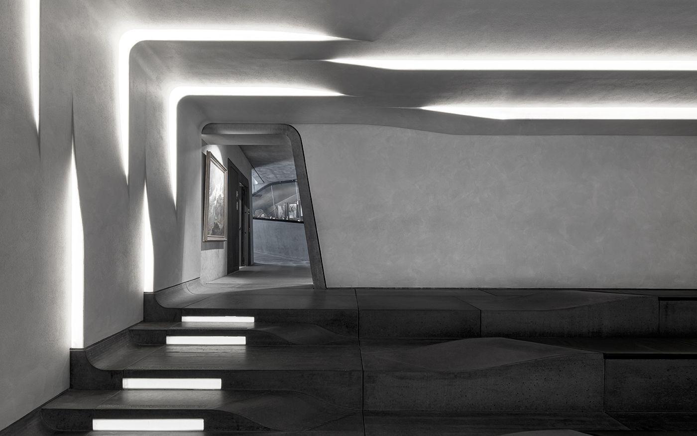 Mmm corones by zaha hadid zaha hadid architecture light architecture interior architecture interior