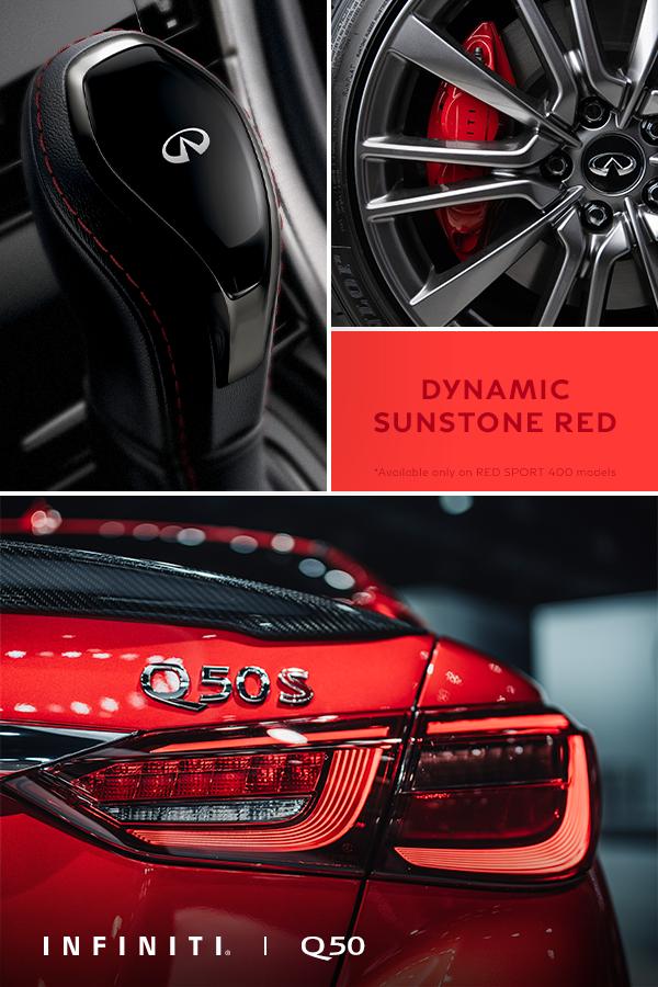 For 2014 Infiniti Q50 Q50S Sport Upgrade Red//Blue S Logo Metal Car Sticker Trim