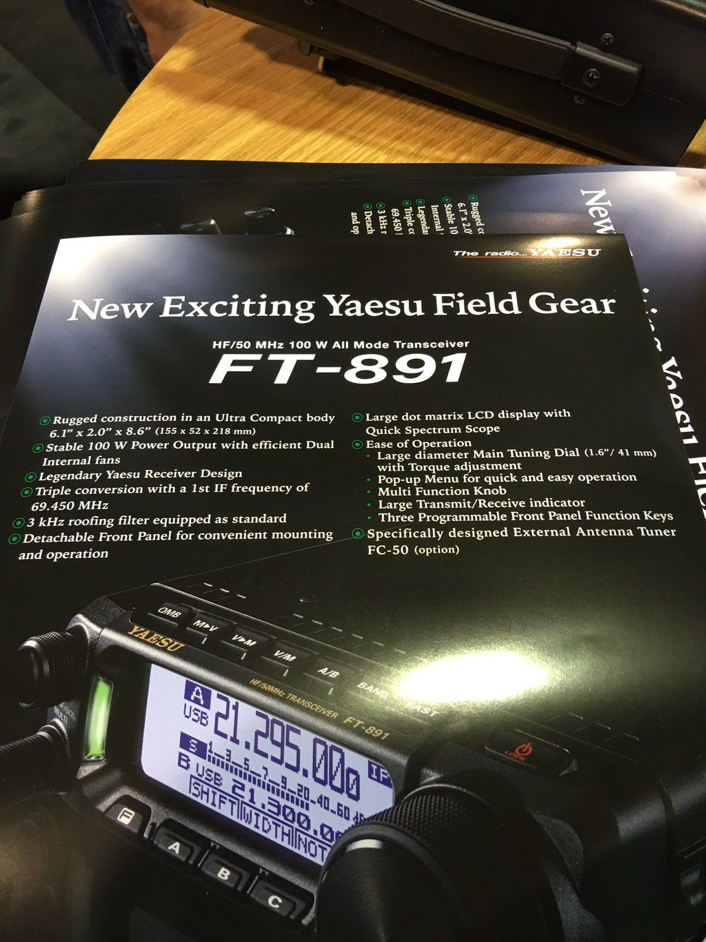 Yaesu ft 891 hf6m mobile transceiver ham radio yaesu ft 891 hf6m mobile transceiver gumiabroncs Image collections