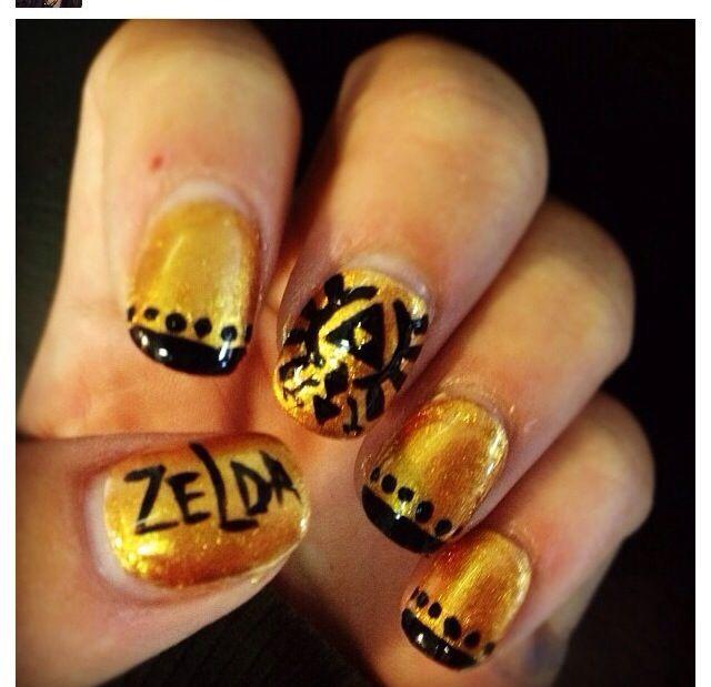 Zelda nails!!! :D | Legend of Zelda Freak! | Pinterest | Pretty nail ...