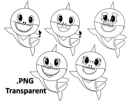 Baby Shark Outline Use The Printable Outline For Crafts Creating Stencils Scrapbooking And Coloring Incl Shark Coloring Pages Baby Shark Song Coloring Pages