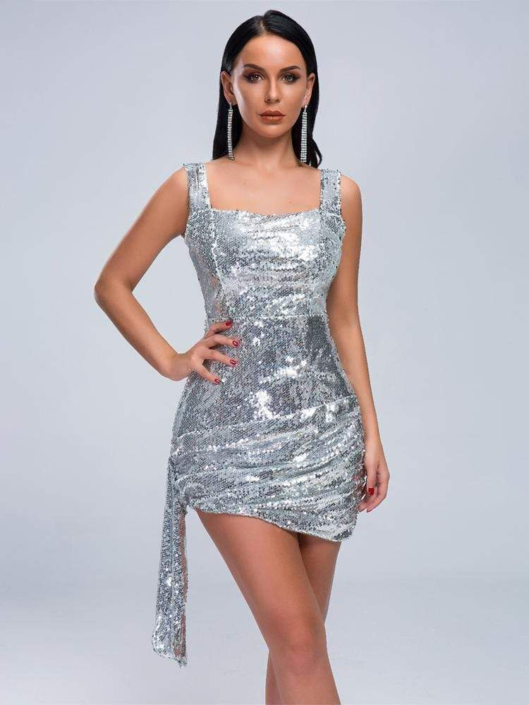 21+ Silver cocktail dress information