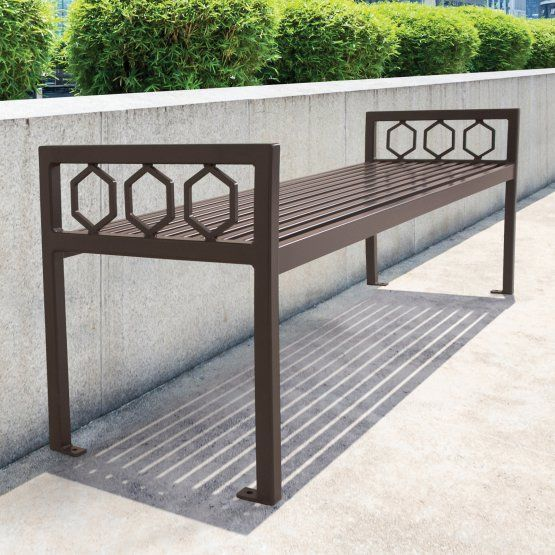 UltraSite Huntington Commercial Backless Outdoor Bench New Amazing Outdoor Commercial Furniture Exterior