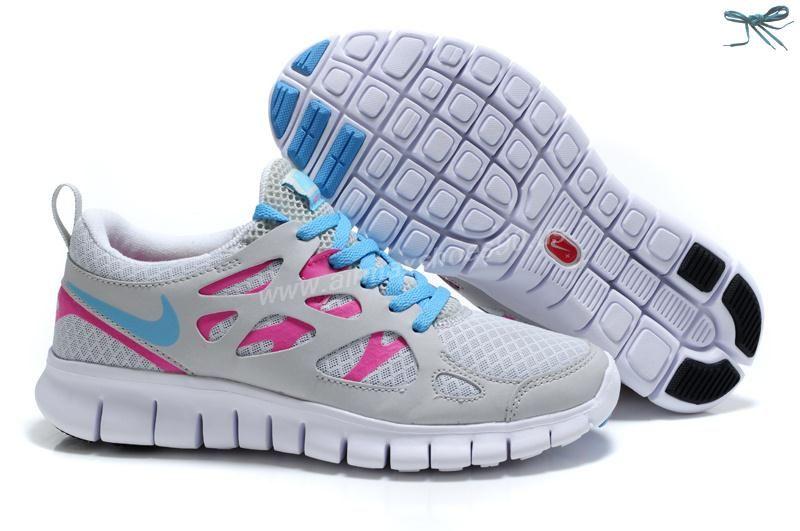 Nike Free Run 2 Des Femmes De Bleu Et Rose