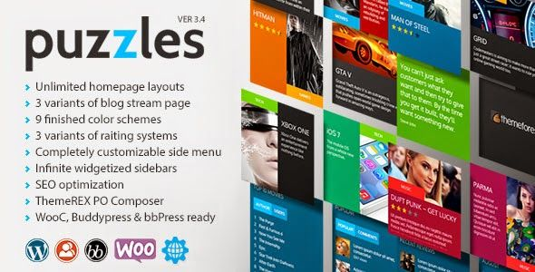 PUZZLES V3.4 - WORDPRESS MAGAZINE/REVIEW WITH WOOC | Download any ...