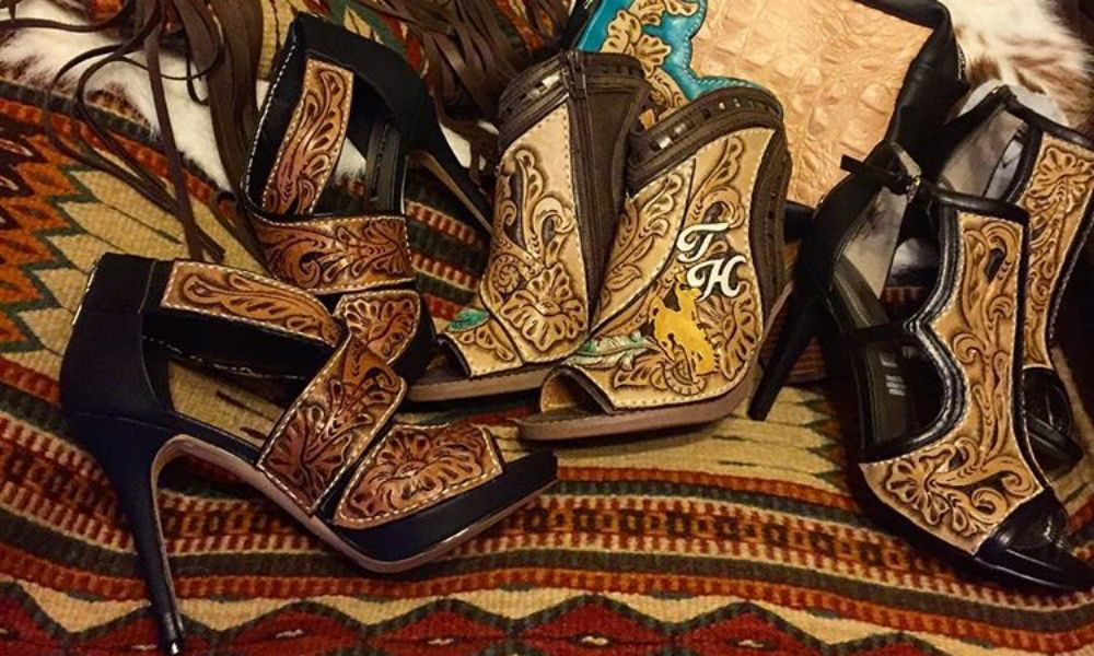 1ecb638c59a0 Rheanne Keller is taking the western fashion industry by storm creating  custom leather tooled heels and wedges unlike anything you ve every seen.