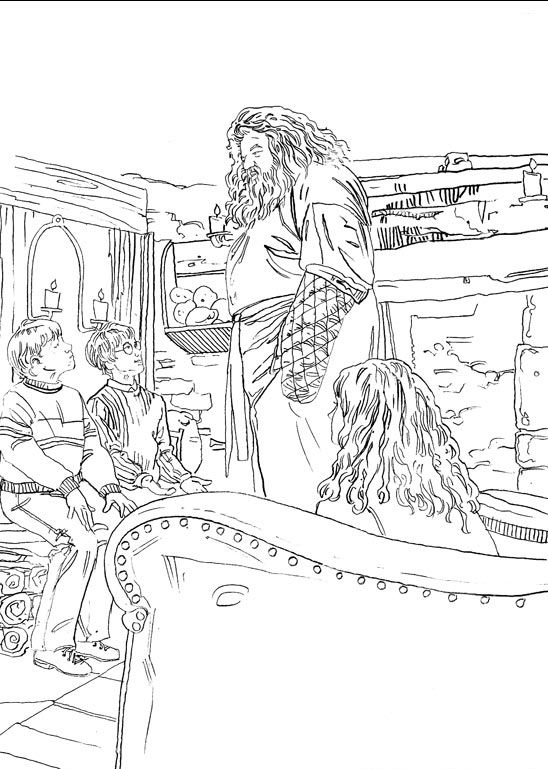 coloring page Harry Potter 2 - Harry Potter 2