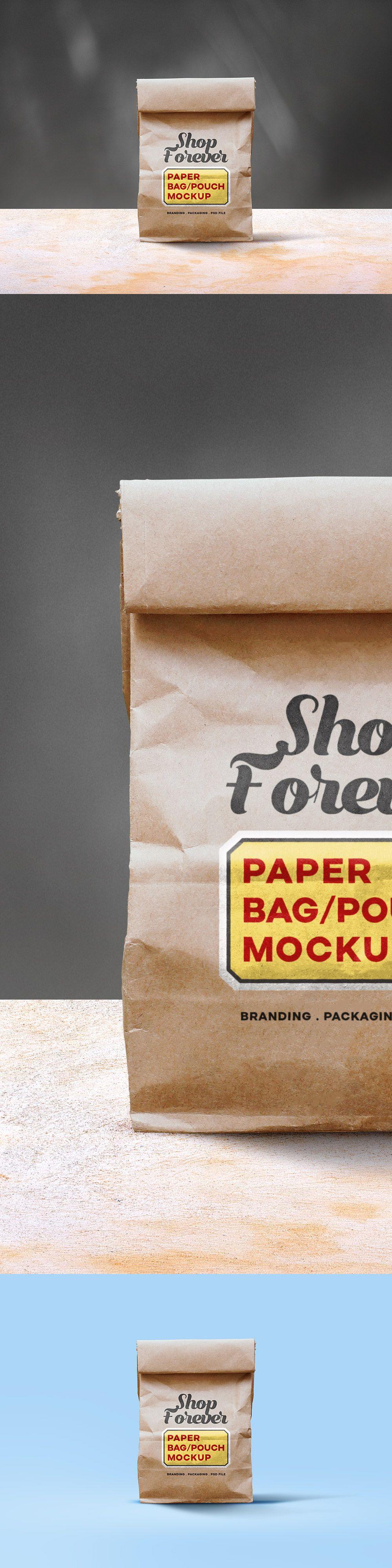 Download Paper Pouch Mockup Psd Bag Mockup Design Mockup Free Paper Bag