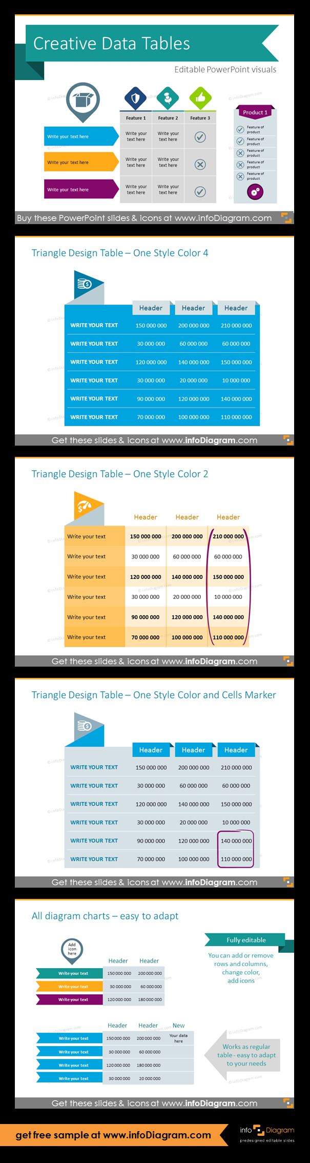 30 Creative Data Table Graphics Design Powerpoint Template Table Template How To Draw Hands Creative Tables