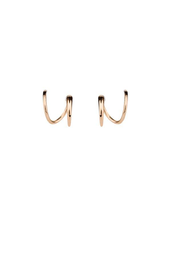 TUSK TWIRL EARRING - ROSE GOLD