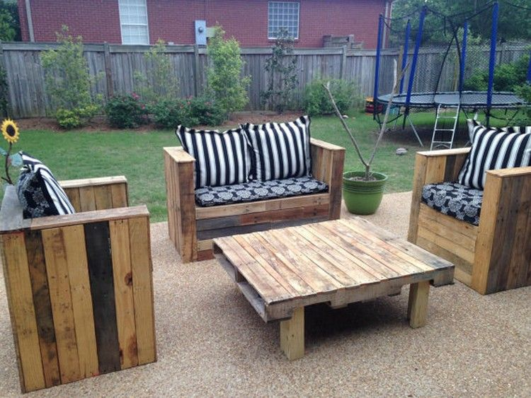 DIY Pallet Outdoor Sofa Plans Outdoor sofa Pallets and Pallet