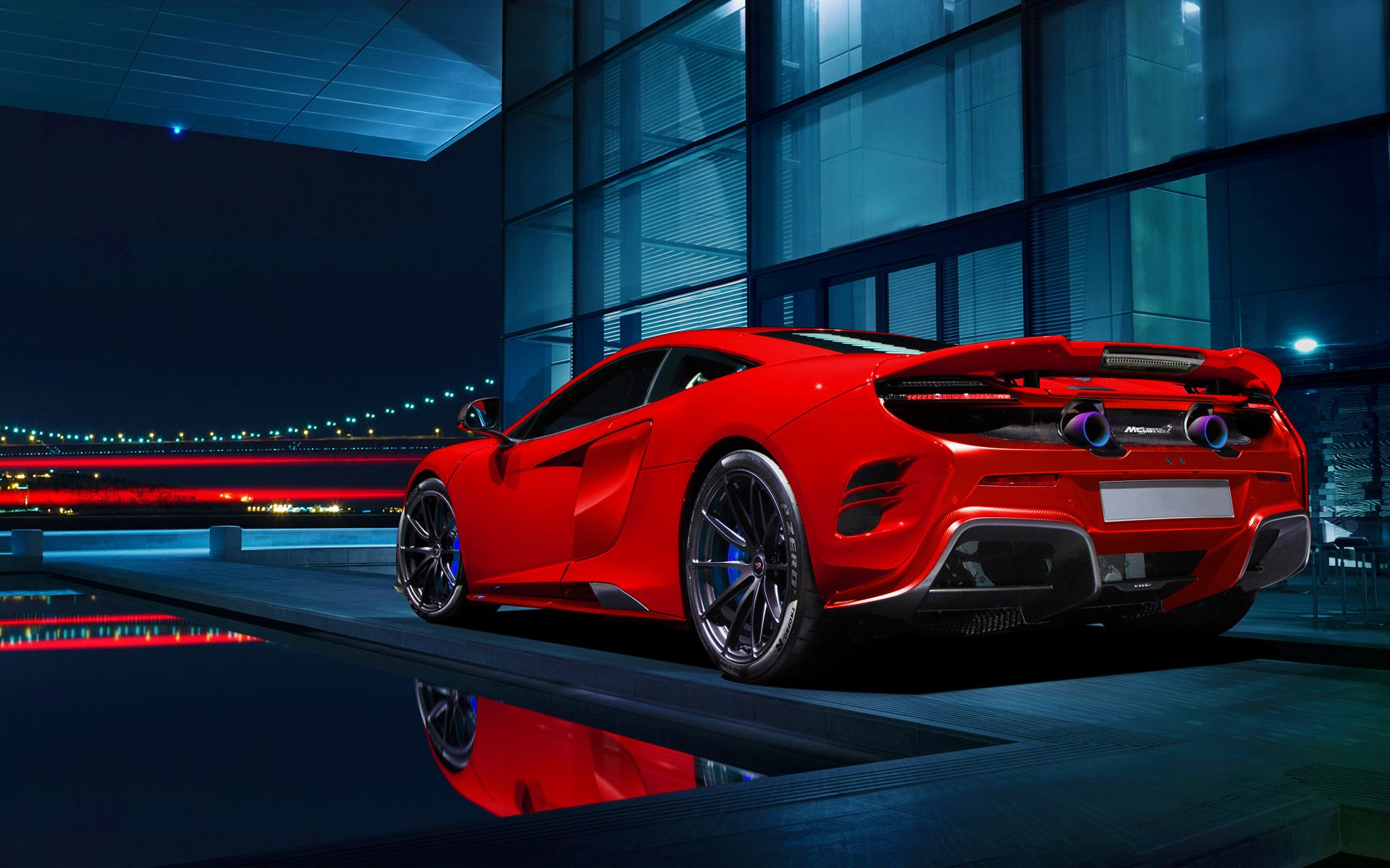 Red Mclaren 675ltt Wide Body Cgi 1920 1200 Mclaren 675lt Car Wallpapers Red Sports Car
