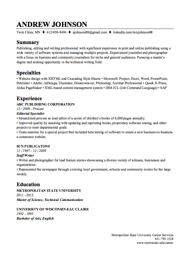 This Examples LinkedIn Resume Builder Sample . We Will Give You A Reference  Start On Building Resume. You Can Optimized This Example Resume On Creating  ...