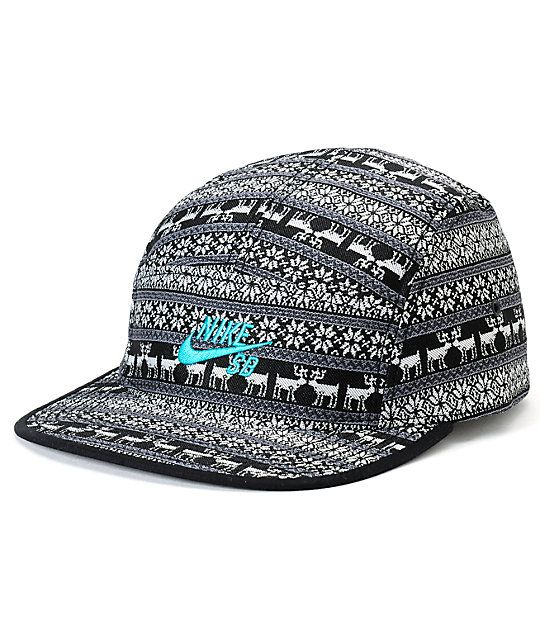 online retailer 5305b ffa6f Keep it festive all year long with a snowflake and reindeer print plus a  teal Nike SB Swoosh logo embroidered at the front.