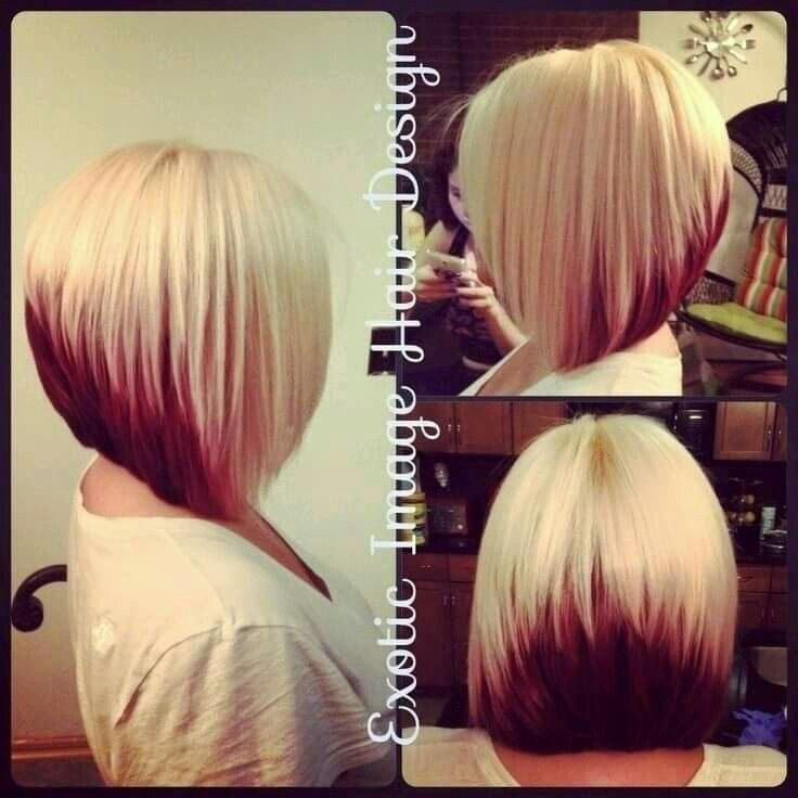 Awesome Love This Two Tone Look Cute Stacked Bob Haircuts