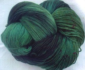 Chilean Angora/Merino  Blue Spruce        20% angora with 80%merino      3 ounces /~85 g  per skein      ~400 yards (366 m) per skein      fingering weight (~18-20 wpi)      needle sizes: 1-3 for socks/2.25-3.25mm                             5-6 for shawls/3.75-4mm      hand dyed in upstate NY    $24.50 per 3oz skein