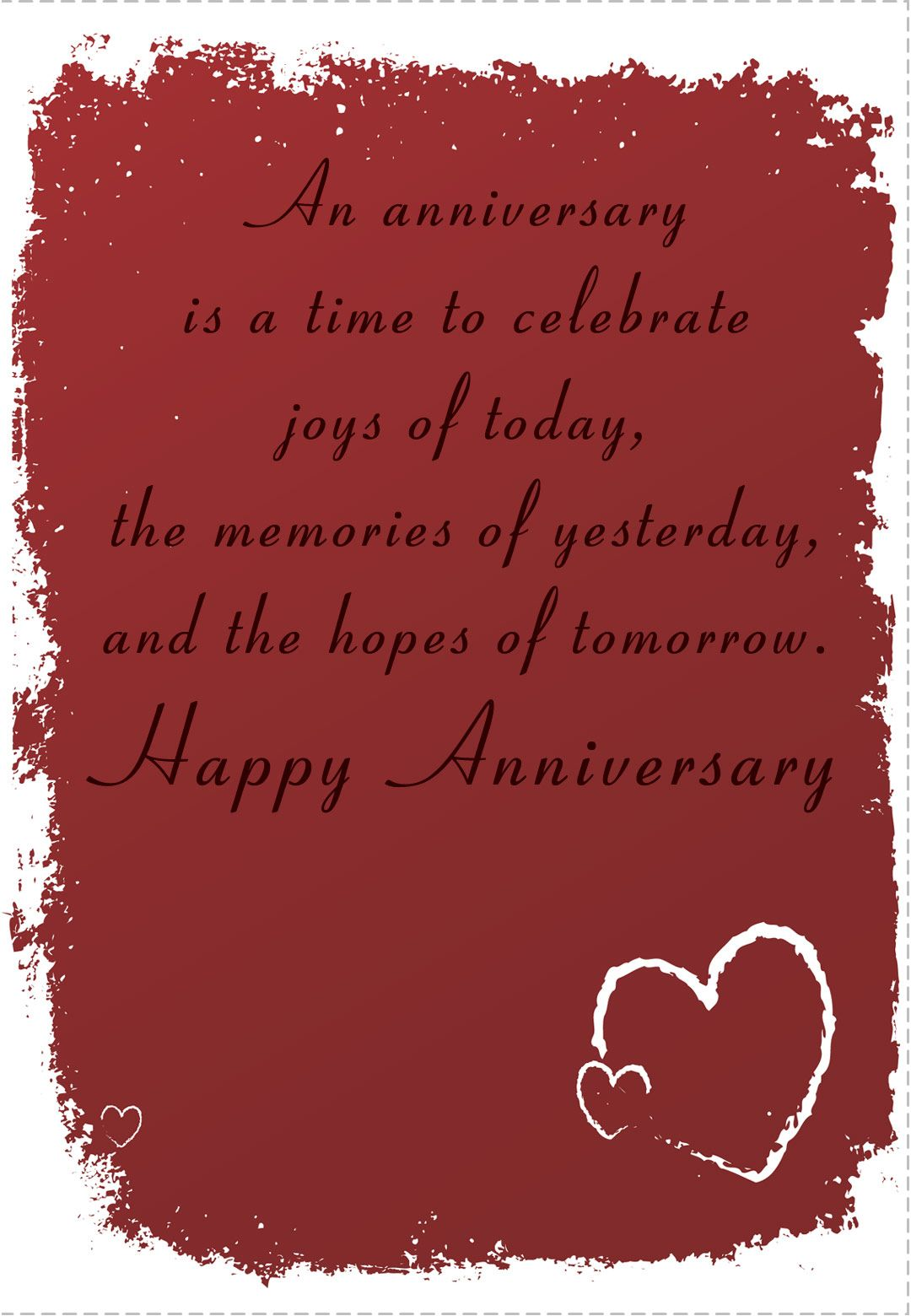 Free Printable Time To Celebrate Anniversary Greeting Card