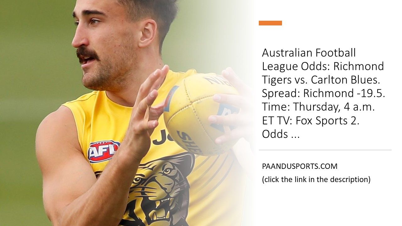 Richmond Tigers vs Carlton Blues Aussie Football Live