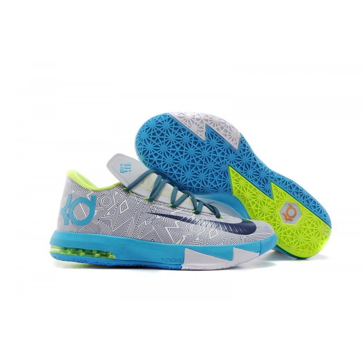 sale retailer 07170 57524 Nike Zoom Kevin Durant Kd 6 Grey White Blue