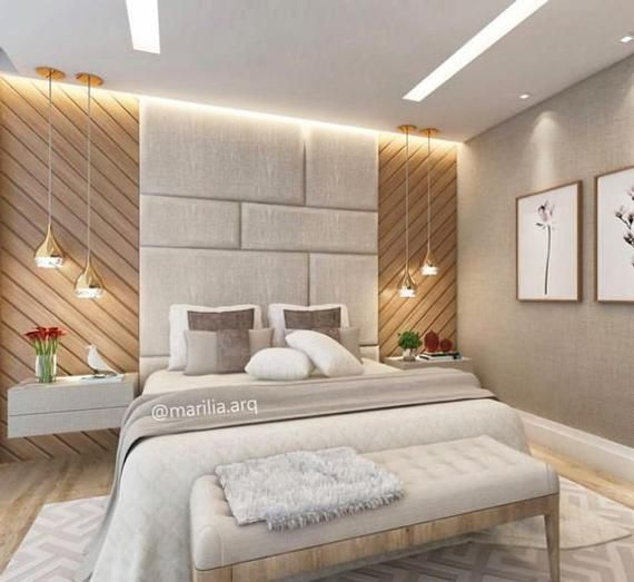 Upholstered Wall Panels Scattered In 2020 With Images Bedroom