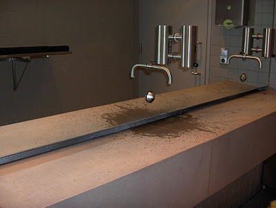 Cool Sink With Hidden Drain Where The Water Runs Off Sink Cool Stuff Concrete Slab