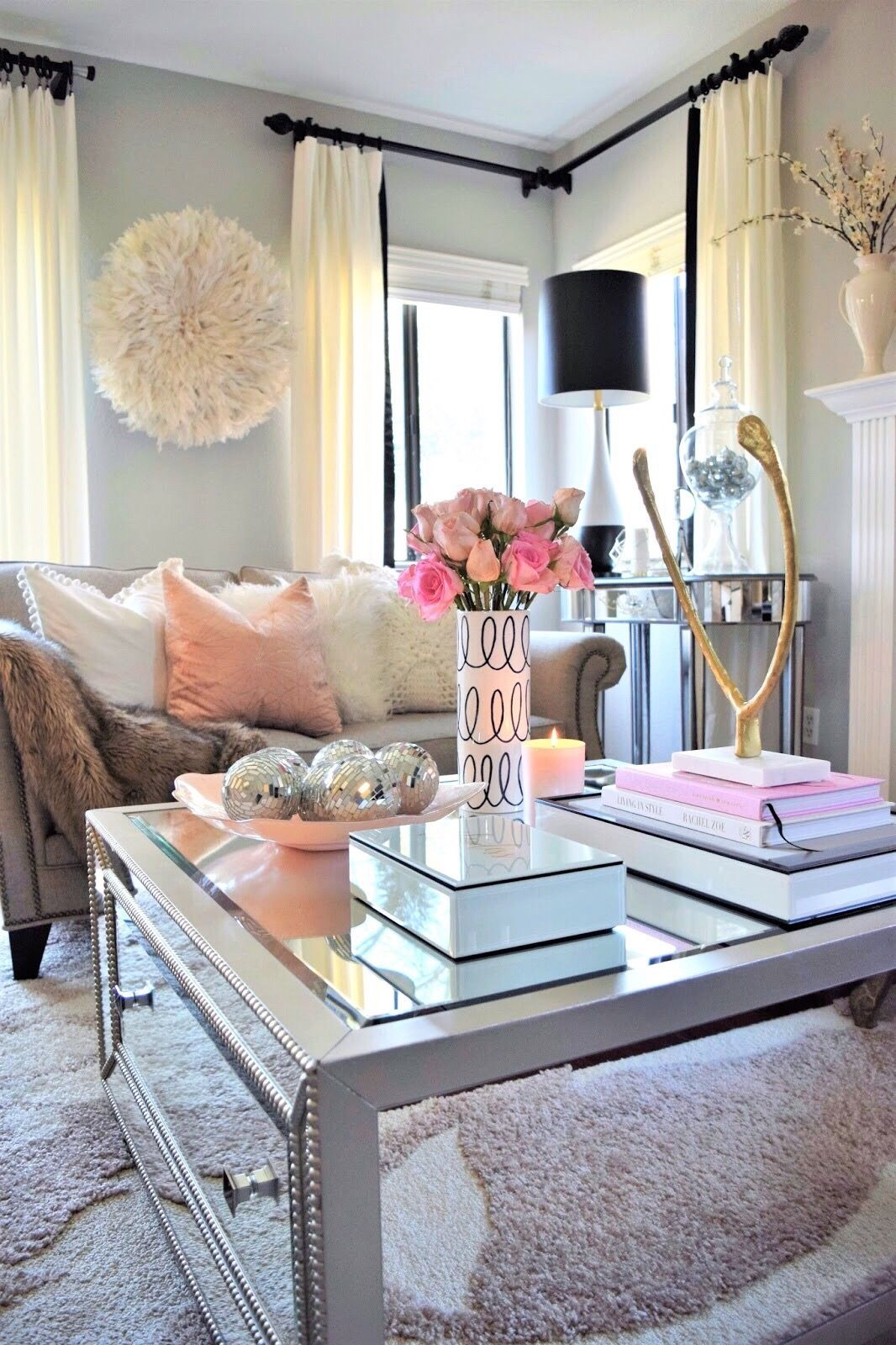 Living Room Table Decor The Secret To Coffee Table Decorating Curtain Rods White