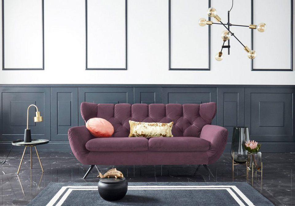 Leonique 2 5 Sitzer Beatrice Mit Ruckensteppung Im Rautenmuster Online Kaufen Haus Deko Rauten Und Sofa Design