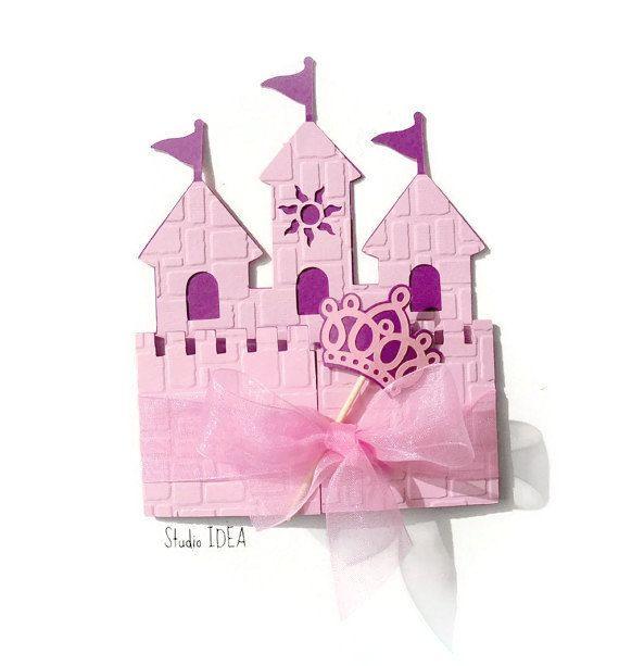 12 Princess Castle Einladungskarte Mit Krone Wand U0026 Von StudioIdea