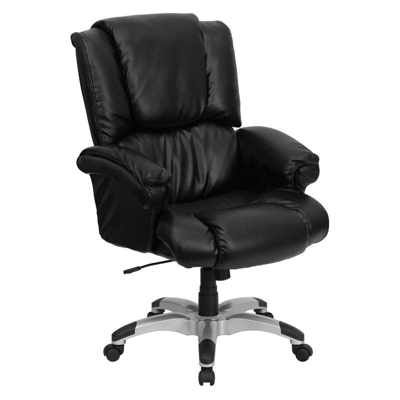 flash furniture high back overstuffed executive office chair black