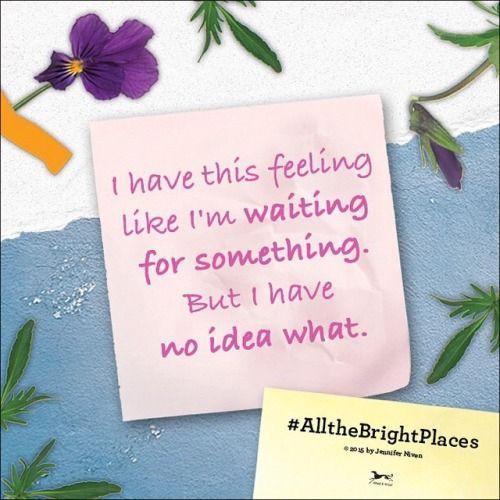 #AllTheBrightPlaces