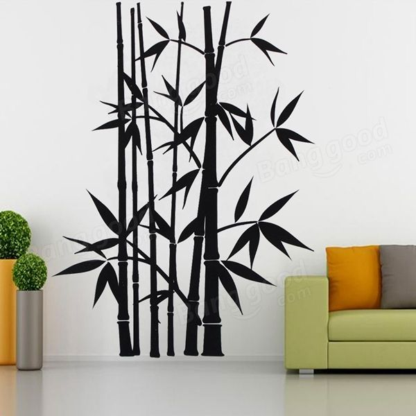 Removable bamboo wall stickers home decor art decoration - Paneles de bambu ...