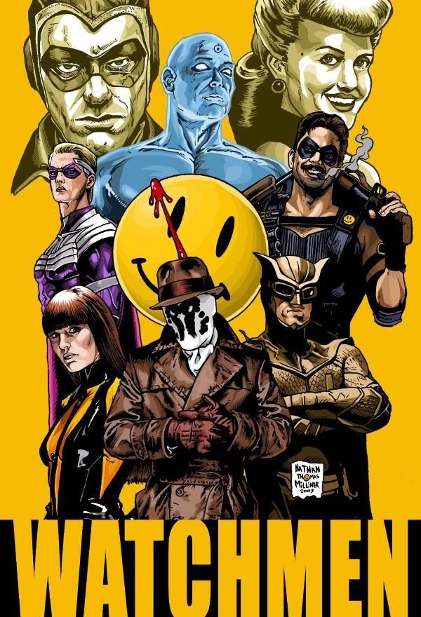 Watchmen Quadro De Fotos Posteres De Filmes Personagens De Quadrinhos