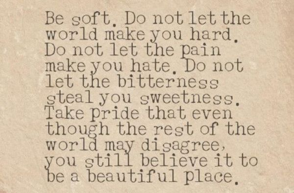 Maybe not a beautiful space but a beautiful phrase nonetheless :-)