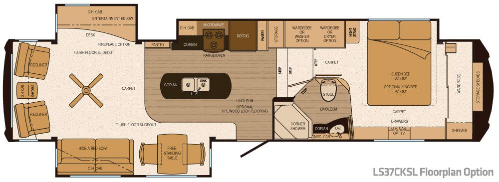 delightful rv plans #2: Luxury RV Floor Plans | Lifestyle Luxury RV Introduces Third Floor Plan