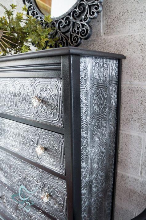 Decoupage Wallpaper Dresser Designed Decor Wallpaper Dresser Painted Furniture Refurbished Furniture